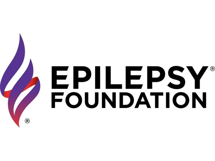An image of the logo of the epilepsy foundation which is a spiral element of light