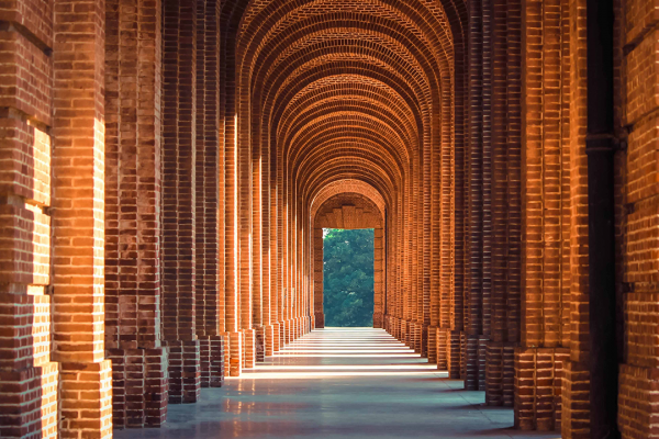 Image of a arched walkway